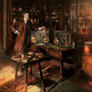 Steampunk - The Time Traveler 1920 Art Print
