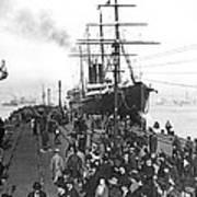 Steamship In Japan Art Print