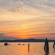 Steamy Hudson River Sunrise Art Print
