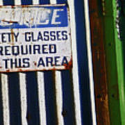 Steel City--safety Glasses Art Print