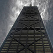 Steel Grey Skyrise Chicago Art Print