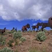 Steel Horses Art Print