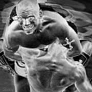 Steel Men Fighting 2 Art Print