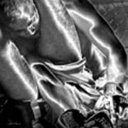 Steel Men Fighting 6 Art Print