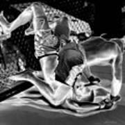 Steel Men Fighting 7 Art Print