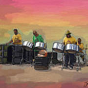 Steel Pan Players Antigua Art Print