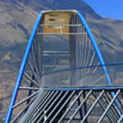 Steel Pedestrian Bridge In Ibarra Art Print