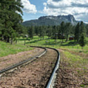 Steel Tracks In The Black Hills Art Print