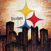Steelers. Art Print