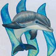 Steemit Dolphin Art Print