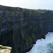 Steep Sheer Sea Cliff's Known As The Cliff's Of Moher Art Print