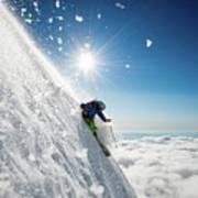 Steep Summer Volcano Skiing Art Print