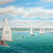 'steer The Course' - West Kirby Marine Lake, Wirral Art Print