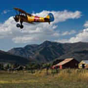 Steerman Bi-plane Art Print