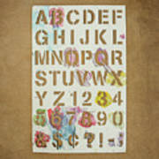 Stencil Alphabet Fun Art Print