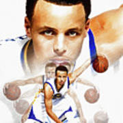 Steph Curry 2017 Profile Art Print