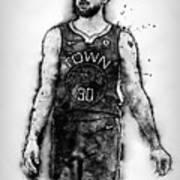 Steph Curry, Golden State Warriors - 18 Art Print