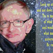 Stephen Hawking Poster Art Print
