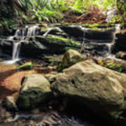 Stepping Cascade - Leura, Blue Mountains, Australia. Art Print