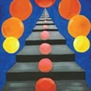 Steps And Circles Art Print