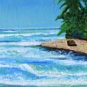 Steps Beach, Rincon Art Print
