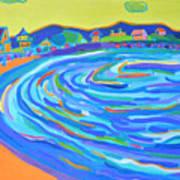 Steps to Plaice Cove Beach NH Art Print
