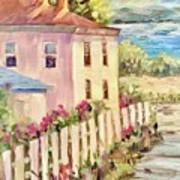 Steps To The Hudson Art Print