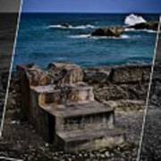 Steps To The Ocean2 Art Print