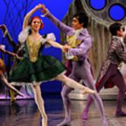 Stepsister Ballerinas En Pointe And Guests Ballroom Dancing In B Art Print