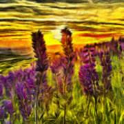 Steptoe Lupine  Art Print