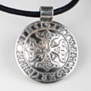 Sterling Silver Viking Celtic Cross Art Print