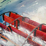 Sternwheeler Splash Art Print