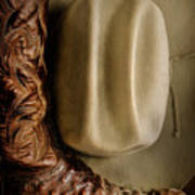 Stetson Hat And Cowboy Boot  Art Print