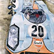 Steve Mcqueens Porsche 917k Le Mans Print by Yuriy  Shevchuk