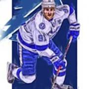 ebfcb6f57 Steven Stamkos Tampa Bay Lightning Oil Art Series 1 Art Print by Joe ...