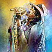 Steven Tyler 01  Aerosmith Art Print