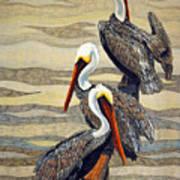 Steves Fishing Buddies Art Print