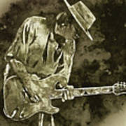 Stevie Ray Vaughan - 19 Art Print