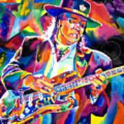 Stevie Ray Vaughan Art Print by David Lloyd Glover