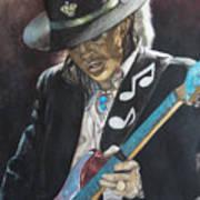 Stevie Ray Vaughan  Art Print by Lance Gebhardt