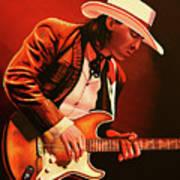 Stevie Ray Vaughan Painting Art Print