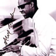 Stevie Wonder Autographed Art Print
