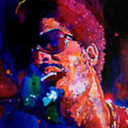 Stevie Wonder Art Print by David Lloyd Glover