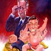 Stewart And Colbert Art Print by Ken Meyer jr