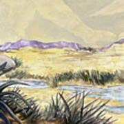 Sticker Landscape 3 Desert Art Print