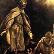Stigmatisation Of St Francis Art Print
