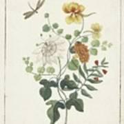 Still Life Of Flowers, Machtelt Moninckx, C. 1600 - C. 1687 Art Print