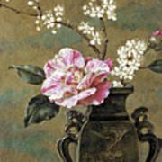 Still Life Of Pink Roses Art Print