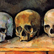 Still Life, Three Skulls Art Print