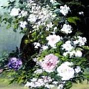 Still Life W/flowers Art Print